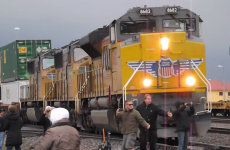 Trainspotter almost squashed by giant train in slowest near-miss of all time