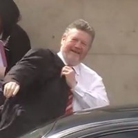 Watch: Dozens of angry protesters heckle James Reilly at Roscommon Hospital