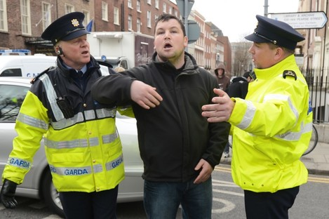 Travellers' rights protest