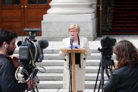 New Justice Minister Frances Fitzgerald speaking last week.