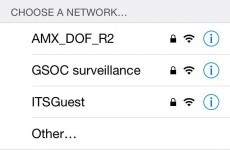 Someone in the Department of Finance is having a little fun with their WiFi