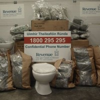 Half a million euro worth of cannabis found in shipment of toilets