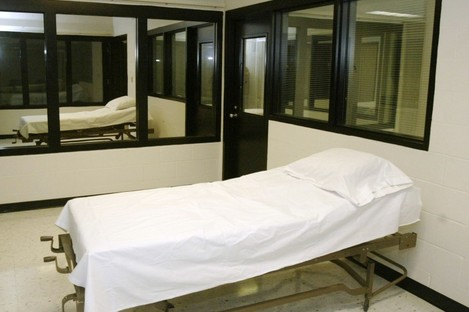The death chamber at the Missouri Correctional Center.