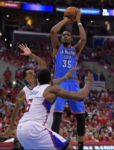 Durant grabs Thunder by the scruff of the neck and drags them into NBA conference finals