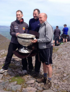 Snapshot - Sam Maguire has made it to the top of Carrauntoohil today
