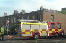 Car and fire truck crash on Grand Canal Road in Dublin
