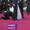 Watch: 'Prankster' dives under America Ferrera's skirt on Cannes red carpet