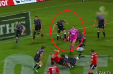 Rugby player sent off for stamping on opponent's face