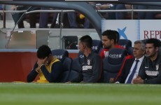 Tearful Diego Costa limps out of La Liga title decider