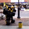 This incredible street performer is a human Transformer