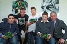 Glenn Whelan joins John Delaney to celebrate inspirational powerchair stars
