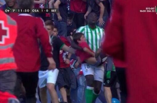 Heroic Betis player rescues young fan after fence collapses at Spanish ground