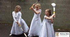Young GAA stars can't part with their hurleys on Communion day