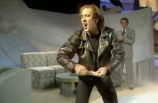 You have to see Nic Cage's bizarre talk show entrance from the 90s