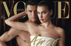 Cristiano Ronaldo is in the nip with his girlfriend on the latest cover of Vogue