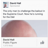 Is Dublin West candidate David Hall going for the bald vote?