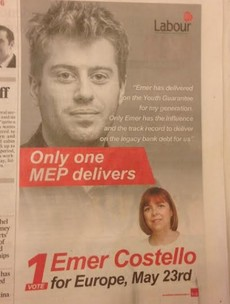 This apparently random youth backing Emer Costello is the Labour Youth Chairperson