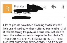 Irish college professor is sick of your dead granny excuses