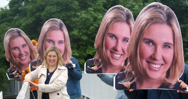 Fine Gael bottled water, giant floating heads and other strange sights from Election 2014