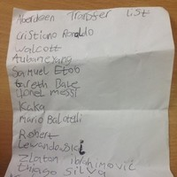 9-year-old Aberdeen fan sends club list of transfer targets, includes Messi and Ronaldo