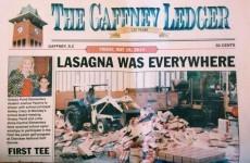 'Lasagne disaster' inspires the best headline ever