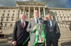 Paul O'Connell swung by Stormont with the Six Nations trophy today