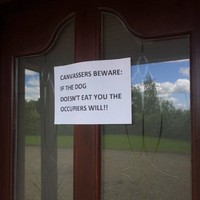 Well that's one way to get rid of election canvassers