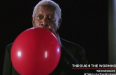 Morgan Freeman on helium. MORGAN FREEMAN ON HELIUM
