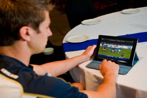 The AP Viewer app makes it easy for players to access video analysis at any time.