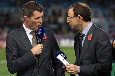 Keane and O'Neill joined forces on ITV's Champions League coverage earlier this season.