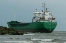 Cargo ship with nine people on board aground at River Boyne in Louth