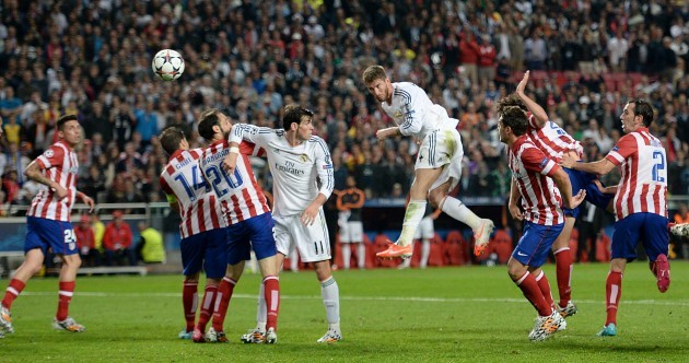 Sergio Ramos heads late, dramatic equaliser to earn extra-time for Real