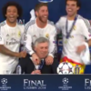 Real Madrid players crash Ancelotti's press briefing, Carlo raises unimpressed eyebrow