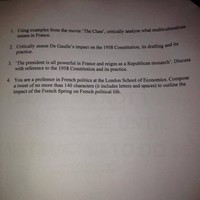 Politics students at UCC had the option of answering an exam question as a tweet