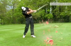 Want to see a golfer destroy a watermelon with a 153mph drive? Step this way...