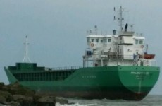 High tide hasn't freed cargo ship run aground in Louth