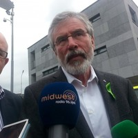 Adams thinks Kenny should leave government, not be discussing future coalitions