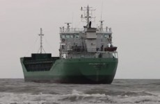 WATCH: Grounded cargo ship stays put in Louth