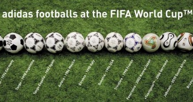 The evolution of the official World Cup football in one cool pic