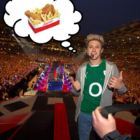 Niall Horan got some Supermac's snackboxes delivered to Croke Park