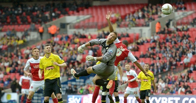 Who'd be a keeper? This Wembley howler handed Fleetwood promotion to League One