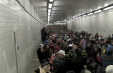 Thousands of people sing 'Lean On Me' while stuck in a tunnel