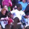 Couple in 1D crowd entertain Croker with their amazing dance moves