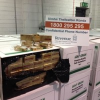 Not 'foil containers' but in fact 1.1 million illegal cigarettes