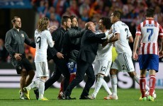 Diego Simeone charged by UEFA for on-pitch Champions League final row