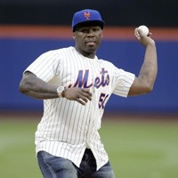 50 Cent threw the worst first pitch ever at a baseball game last night