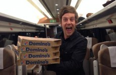 Here's why #PizzaOnATrain was trending globally last night
