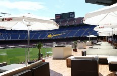 Barcelona have opened a new pitchside restaurant in the Camp Nou