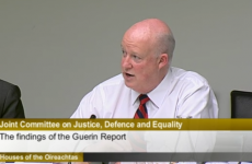 Brian Purcell appears before the Justice Committee, but refuses to answer questions about Callinan