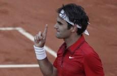 Fed Express rolls on as Djokovic's streak grinds to a halt